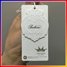 Paper Material And Printed Technics Garment Embossed Technics High Quality Price Garment Paper hang tag