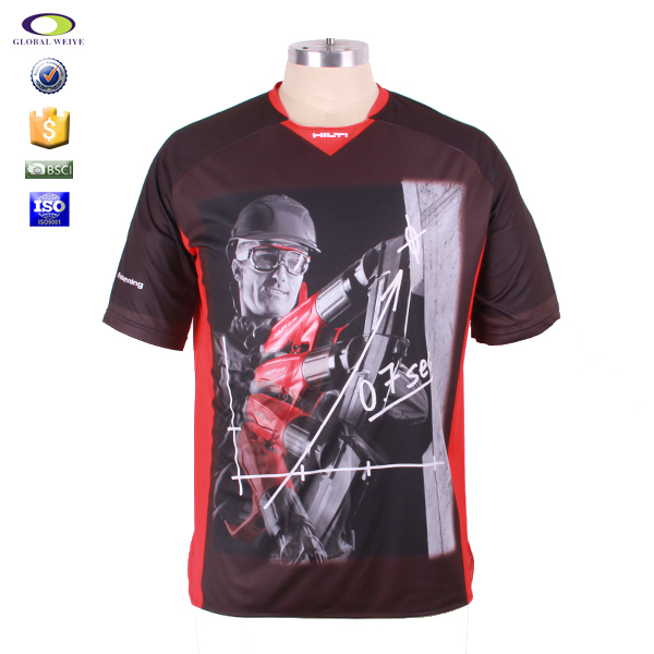 2015 wholesale sublimation printing t shirt manufacturer for T shirt printing in bulk