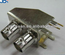 75ohm RF Female Right Angle PCB Mount BNC Connector