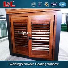 Grelha de alumínio janelas de batente, obturador de alumínio para caixilhos de janelas