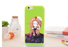 Color printing TPU skin cover oil printing cell phone case for samsung galaxy s6 for iphone 6 case