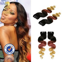 New fashion two tone ombre colored brazilian human hair weave,100% human ombre hair braiding hair extension