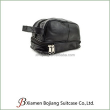 PU Leather Dopp Kit Shaving Accessory Toiletry Travel Bag for Men