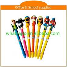 cartoon shape lovely polymer clay ball pen frosted twist ball pen