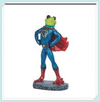 Frog superman costume figurine