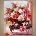 lienzo pintado a mano de flores para la decoración