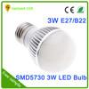High-end Best Selling Led Motion Sensor Lights Bulb 3w e27 led light bulb