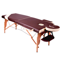 Gess Folding Massage Bed Beauty Therapy Bed Two Folding Couch Wooden Massage Table