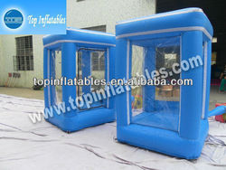 inflatable cash cube cash grab money, customized inflatable money box