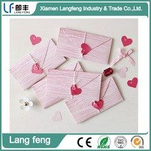beautiful heart paper color envelope for gift