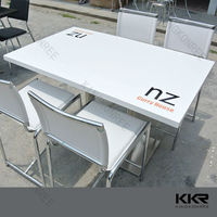 Acrylic solid surface walmart table and chairs wholesale