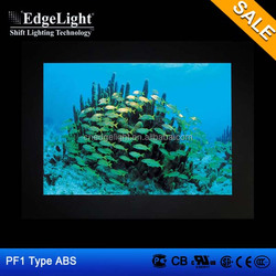 Edgelight PF1 acrylic photo frame , ABS frame cheap price , balck border picture frame led light box