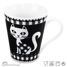 high quality decal ceramic mug top sale new design top sale,euro friendly,cat and dog design