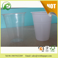 White and transparent cup plastic equip dome lids