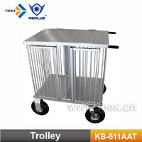 Aluminum Dog Trolley and Dog Cage 511NAT
