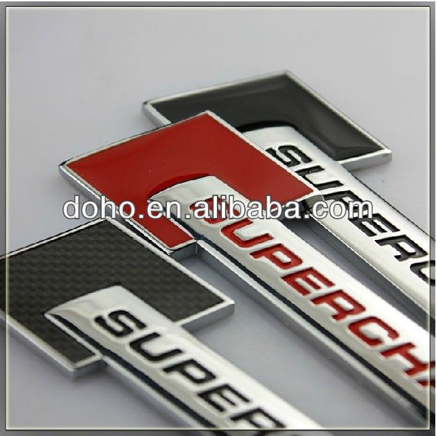 Custom ABS Chrome car emblems and self-adhesive chrome car logo, custom made car plastic emblems (ss-3398)