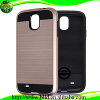Hot selling wire drawing pattern 2 in 1 combo cases accesorios para celulares for Samssung S5