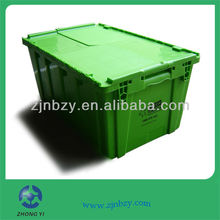 Heavy-duty Plastic Moving Boxes Green with Foldable Lids