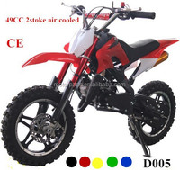 Chinese factory alloy easy pull start 2 stoke dirt bike 49CC 50cc pit bike mini bike