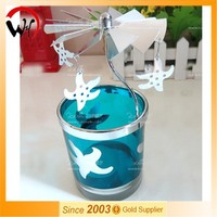 2015 Spin Rotary Carousel star shape tealight candle holder