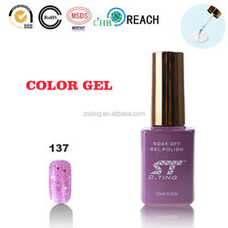 shiny silver light pink for nail art