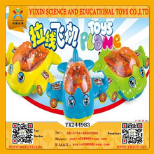 2015 Pull Plastic Airplane Candy Toy Sugar Filling Toy