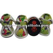 UW-PSS-032 2012 Casual style,green printing canvas pet shoes,dog shoes,cat shoes
