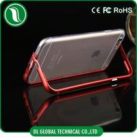 china supplier Premium Aluminum Metal Bumper Frame Case for iPhone 6 TPU Aluminum Metal Bumper Frame Case with stand