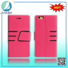 High quality newest mobile phone leather flip case cover for apple iphone 6