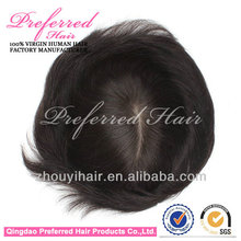100% human remy hair,high quality pu injection toupee