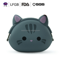 Wholesales Cute Animal shape Fashionable silicone bag/purse/wallet with high quality and low price