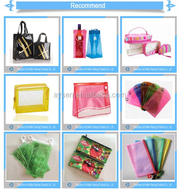 popular zipper pvc bag for cosmetic
