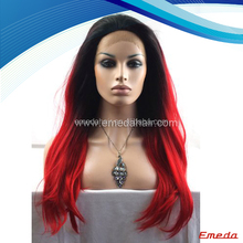 2014 new fashion beautiful light purple and purple curly ombre wig
