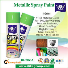 High Quality Bright Coat Metallic Color Spray Paint Gold