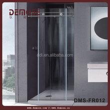 New design frameless toilet shower room for home