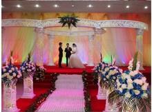 fashion elegant wedding stage decoration centerpiece cystal roman pillar supplier and event