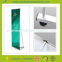 Popular Single side Aluminium L Banner Display Stand