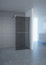 walk in glass bathroom shower hinge smoke shower doors made in China,special holder frame shower