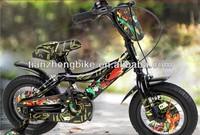 2015 newest fashion cartoon sticker pedal powered sport fat tire kids bikes