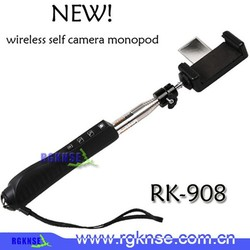 Fashion accessories 2015 Wireless Mobilephone Kingwon Zoom Mirror Selfie Stick,RK908 monopod