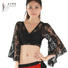 S009 best seller lace sexy belly dance top