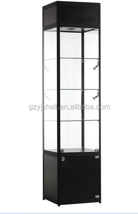 Exhibition Stand Spotlights : Hexagon display corner showcase for jewelry temper glass