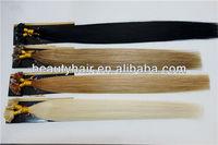 "50STRANDS x 20"" Grade 6A/7A 100% Indian Remy Hair Extensions 0.6g U Tip Keratin bond"