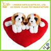 Wholesale animal toy lovely Valentine dog plush toy with heart