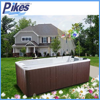 CE hydrotherapy outdoor hot tub/ swim spa/ sitting bathtub