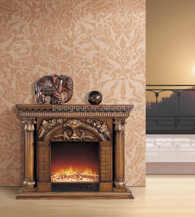 Decorative electric fireplace home design for European home fireplace