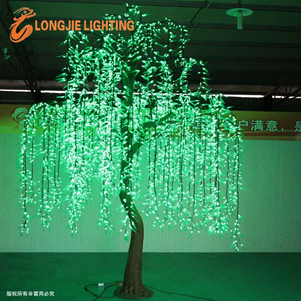Simulation Outdoor Led Willow Tree Lights Christmas Tree