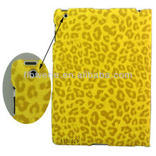 FL646 2013 Leopard pattern case for ipad2 3, wallet leather case sleep wake-up funtion cover protective case for ipad2 STOCK!