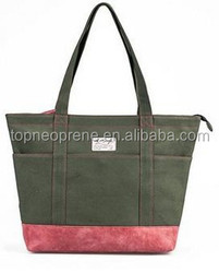 Women Shopping Light Hand Bag Design with Little Pockets Inside