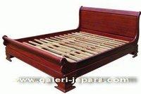 Solid Mahogany Bedroom Set - Antique Sleigh Bedroom Furniture - Wooden Mahogany Furniture